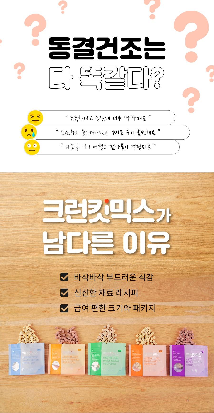 [리뉴얼] 크런킷 믹스큐브 피부/면역/비만/관절/요로 (40g)-상품이미지-2